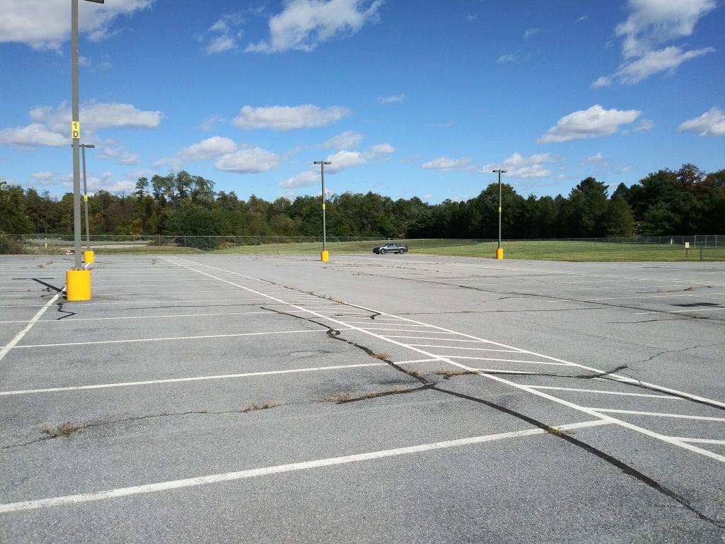 Car in parking lot